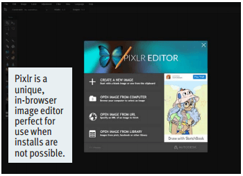 Pixlr is a unique, in-browser image editor perfect for use when