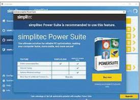 Magix Music Maker's unwanted extras include simplitec Power Suite.