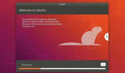 The Ubiquity installer is as smooth as ever, and we liked the artwork, too - a beaver circumscribed by intersecting circles.