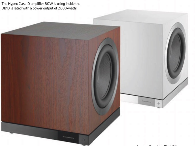 The Hypex Class-D amplifier B&W is using inside the DB1D is rated with a power output of 2,000-watts.