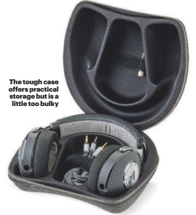 The tough case offers practical storage but is a little too bulky