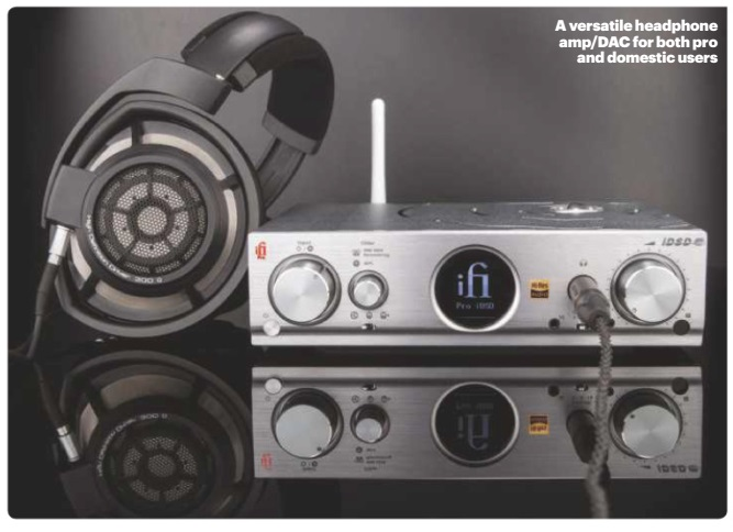 Versatile headphone amp/DAC/ streamer that delivers outstanding sound quality at home or in the studio