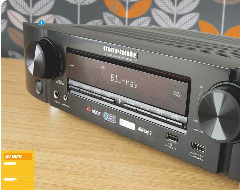 Mark Craven falls for the charms of Marantz's superstylish, slender AVR. Read our Marantz NR1710 Review.